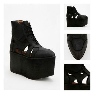 Jeffrey Campbell Cutout Leather Platform Boot